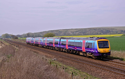 170304 & 170307 pass Hambleton West with 1K12 11:42 Manchester Piccadilly - Hull train on 24/04/10.