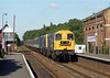 British Rail Telecoms operated 20187 and 20075 pass Ancaster on August 24th 1993 with the 1E86 08:12 Leicester - Skegness.