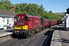 A trip to Whitby via the North Yorkshire Moors Railway was taken on Saturday 11th August 2018, with the outward 1T12 09:25 departure from Pickering being in the hands of LNER B1 1264 with 20142 assisting from the rear due to the risk of fire. From Grosmont, the kettle was removed and the 20 took the helm - much to one's delight (although I feel I was in the minority).<br /> Looking resplendent (if a little out of character) in its' London Transport guise, 20142 is about to drop off the rear of the working at Grosmont before continuing to Whitby single-handed.