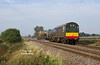 20007 leads 20205 and the 08:50 RHTT from Wrenthorpe to Grimsby as the ensemble passes Maud's Bridge at 10:31 on the morning of Wednesday 17th October 2018.<br /> Despite a full sun forecast, this shot was captured in lucky patch of weak Autumn sunshine - the cloud persisting through the rest of the morning and into the afternoon - hence my only shot of the day!