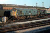 ADB 968008-ex 24054(now preserved) in the company of 08953 at Newton Abbot as a carriage heater 5th April 1980