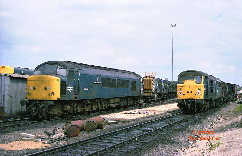 45023 and 31141 stand at York Depot on June 30th 1984.