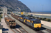 On Thursday 3rd August 1995, the 6F11 Penmaenmawr - Warrington ballast trip was in the hands of 31255 and 31188 as they are seen in the yard at Penmaenmawr shunting ballast wagons.