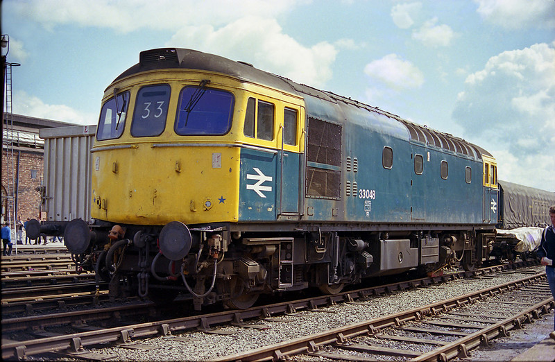 33048 Stands on display at Crewe Works open day, 2nd June 1984.