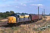 37377 waits to depart from Hedon Road Sidings, Hull King George Dock, with the 6Z80 to Bescot at 15:35 on Wednesday 4th August 1998.