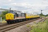 "37025 heads for Hull Paragon seen passing Lowfield Lane Melton at 12:44 on Monday 25th July 2016 with the 09:52 Derby R.T.C. - Derby R.T.C. test train. 37254 brings up the rear.  37025 was photographed at this location almost 18 years earlier but heading in the opposite direction - see link; <a href=""https://tonybuckton.smugmug.com/Trains/Class-37s-through-the-ages/i-J5kF5ZC"">https://tonybuckton.smugmug.com/Trains/Class-37s-through-the-ages/i-J5kF5ZC</a><br /> The intervening years have had mixed fortunes for this view in that the rural feel has been spoilt by the Heron frozen food distribution centre which now dominates the background - However, as a plus,  the tall trees to the right (South) of the shot have been removed leaving the location shadow free."