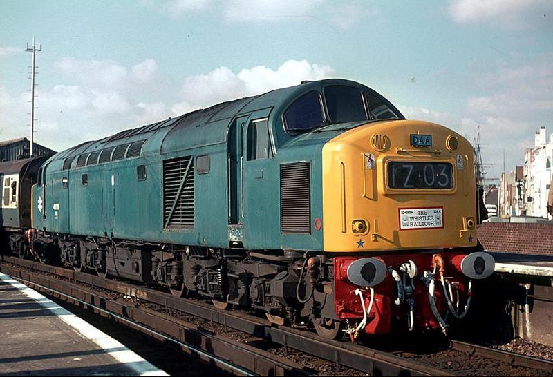 40173 Portsmouth Harbour on 'The Whistler' Railtour 11th Feb 1978