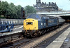 40156 departs Edinburgh Waverley on an Aberdeen service 14th July 1979