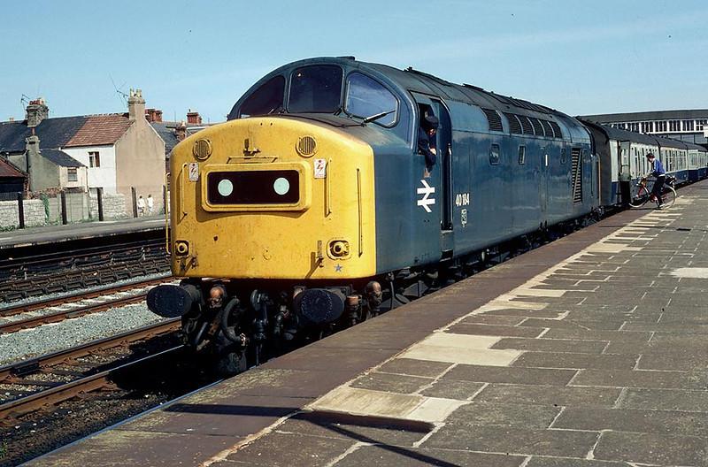 40184 Rhyl on 1045 Manchester-Holyhead 28th August 1982