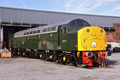 D213 ' Andania ' basks in the sun outside Barrow Hill. 10/10/09.