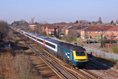 43044 and 43074 near journeys end as they pass Beeston with the 07:00 (1D07) St Pancras - Nottingham, 03/04/10.