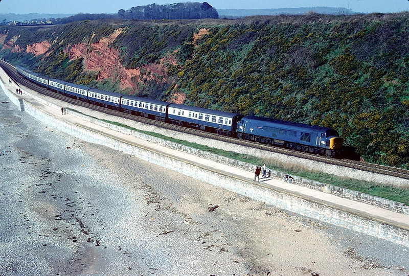 45022 Langstone Rock on 1000 Plymouth-Liverpool 4th April 1980