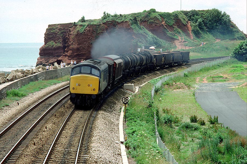 45001 Dawlish Warren on 0930 St.Blazey-Severn Tunnel Jn.1st July 1985