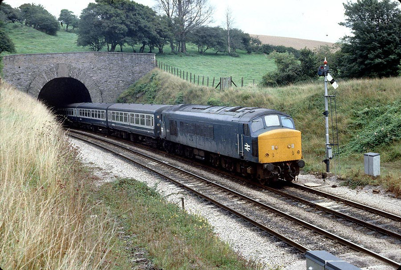 45028 Dainton on the Down 'Cornishman' 8th Sep 1979