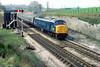 45048 passes Dainton Box on 0747 Penzance-Liverpool 5th April 1980