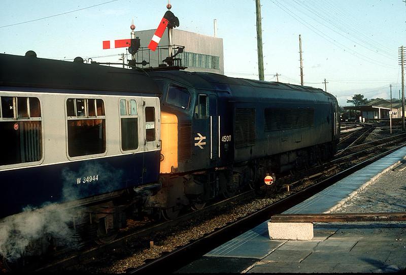 45017 St Erth on 1400 Penzance-Bristol 28th Dec 1982