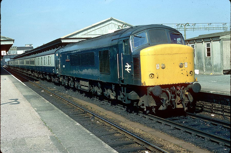 45039 Newton Abbot on 0922 Liverpool-Penzance 12th April 1980