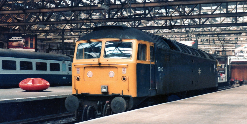 47013 at Glasgow Central 1983.