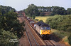 47317 has just passed beneath the Hull - Leeds line at South Milford on the approach to Milford Junction at 17:14 on Wednesday July 12th 1995 with the 4V03 14:06 Lynmouth - Pengham aluminium ingots.