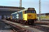 50021 'Rodney' stands at Old Oak Common on the afternoon of April 21st 1984.