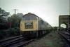 D1009/D1023 Meldon Quarry on 'Westerns South Western' Railtour 30th Oct 1976