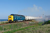 On Wednesday 27th April 2011, a drive to the North East was in order to capture the incredible phenomenon of 55022 'Royal Scots Grey' working the Lynemouth - North Blyth and vice-versa trips.  Seen departing North Blyth in a cloud of exhaust with the 6N69 17:54 departure to Lynemouth, 55022 makes for a fine sight.