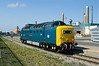On Wednesday 27th April 2011, a drive to the North East was in order to capture the incredible phenomenon of 55022 'Royal Scots Grey' working the Lynemouth - North Blyth and vice-versa trips - Standing between duties at Lynemouth.