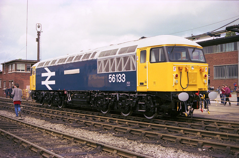 Brand New 56133 Stands On Display At Crewe Works Open Day