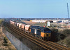 56100 passes Marske at 15:40 on Saturday 18th March 2000 with a Tees Dock - Boulby Mine trip.