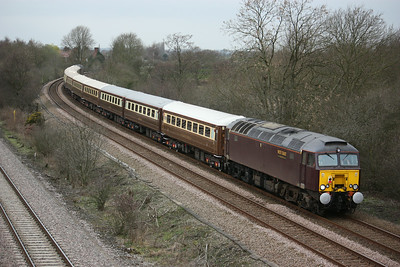 57316 (57315 at the rear) at North Staffs Junction with a Carnforth - Derby ECS for the next days Statesman 20/3/14