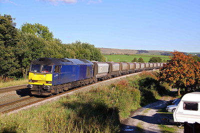 60011 in extinct 'Aircraft Blue' livery, passes Chinley on 6F05 15:25 Tunstead - Oakleigh ilmestone, 04/10/10.
