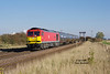 Running in an earlier than usual path, 60019 rounds the curve at New Barnetby with the 6M00 1238 Humber Oil Refinery to Kingsbury tanks on Friday 19th October 2018.