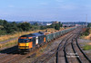 60008 passes Toton at 08:20 on Friday 23rd July 1999 with empty Railtrack boxes to Mountsorrel.