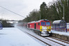 60044 creates a  mini snowstorm at it rushes through Hessle at 08:55 on Wednesday 28th February 2018 with the Rotherham Masborough - Hull Hedon Rd Sidings steel hoods.