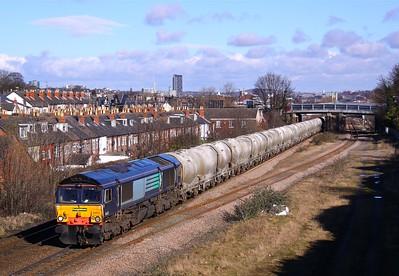 66413 ARCHER ROAD 6M89 09.55 Dewsbury-Earles Sidings