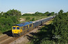 A shot only possible around the longest day of the year from a brand new vantage point.  66739 is seen from the new road bridge to the East of Brough with the 6D71 03:45 Rylstone - Hull Dairycoates at 06:42 on the 21st June 2018. <br /> Luckily, delays to the re-signalling scheme have left the semaphores in place for the summer, and by the summer solstice of 2019 will almost certainly be history. (The new system is in place and should have been commissioned at Easter).