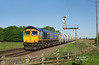 Just a few mins behind the steel hoods (07:12) saw 66759 pass with the  6D71 03:53 Rylstone - Hull Dairycoates Tarmac hoppers - Crabley Creek - 24th May 2016.