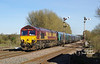 66018 passes Melton Lane at 15:25 on the glorious afternoon of Saturday 25th March 2017 with the 14:28 Hull Biomamass LP - Drax Power Station.
