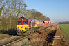 66117 approaches West Bank at12:56 on Wednesday 28th December 2016 with the 12:56 Drax PS - Milford West Sidings empty limestone hoppers.