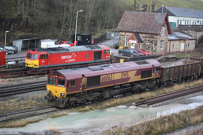 66063 shunts at Peak Forest 22/1/14