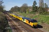 Saturday March 25th 2017 saw 67023 and 67027 top and tailing the 09:14 Derby RTC - Hull test train in place of the usual HST set - seen approaching Ferriby at 11:25 in cracking spring sunshine, the freshly applied Colas livery certainly makes for a colourful combination.
