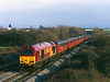 67010 passes Badgeworth near Cheltenham at 13:10 on Wednesday 20th December 2000 with an additional 1V53 07:27 Low Fell - Bristol mail.