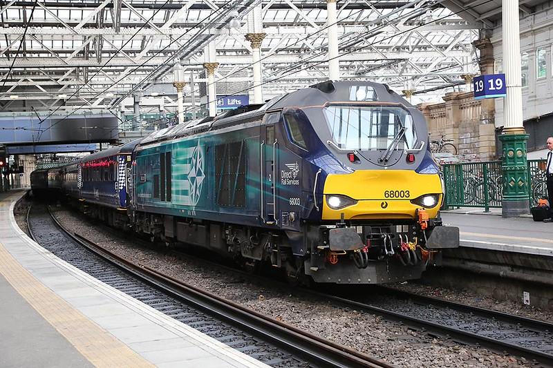 68003 Edinburgh Waverley 20th August 2015