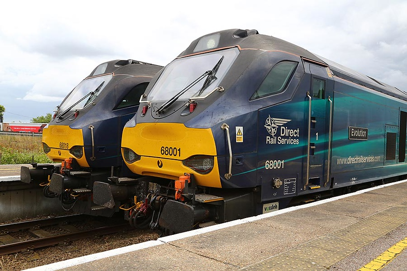 68001/68018 Yarmouth 17th June 2018