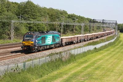 68003 'Astute' passes Slindon with 6U77 1342 Mountsorrel - Crewe Basford Hall 11/6/15