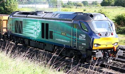 68003 'Astute' passes Crewe Casey Lane shortly after departing Crewe Basford Hall with 6U76 0859 Crewe Basford Hall - Mountsorrel 3/6/15
