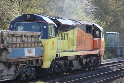 70805 passes Water Orton working Westbury - Bescot 16/4/14