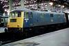83012 arrived Glasgow Central on 2112 ex Bristol TM.30th Aug 1982