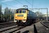 84010 runs round the 'Class 84 Farewell' Railtour at Northampton 10th Nov 1979