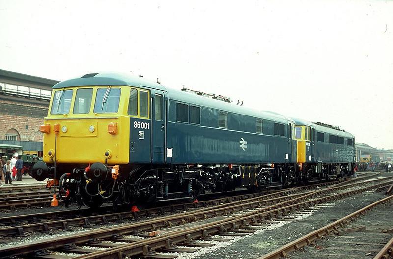 86001/86228 Crewe Works 24th Sep 1977